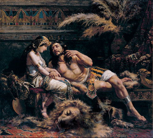 Samson and Delilah by José Echenagusía